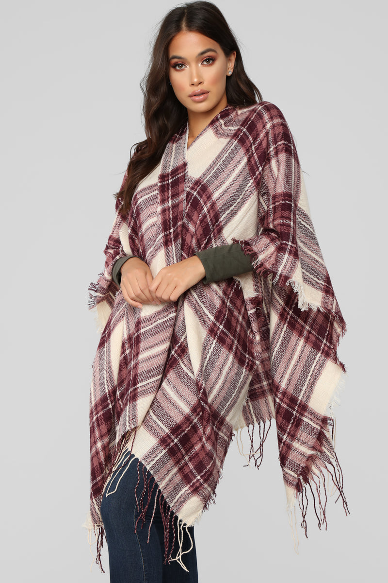 Rowana Go Outside Scarf - Burgundy