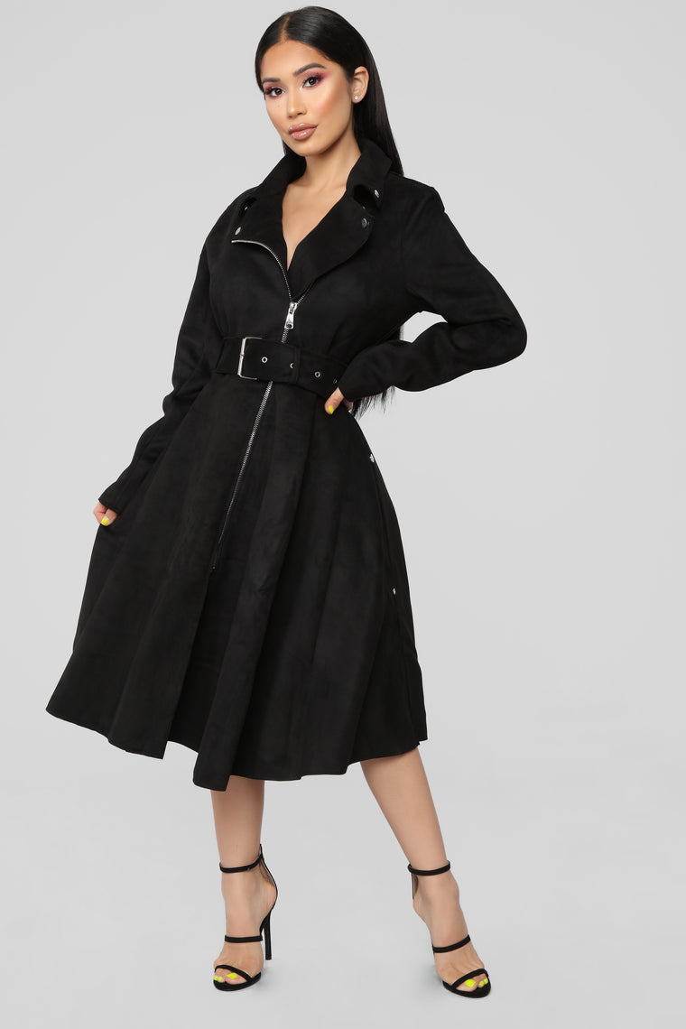 Taking Charge Coat - Black
