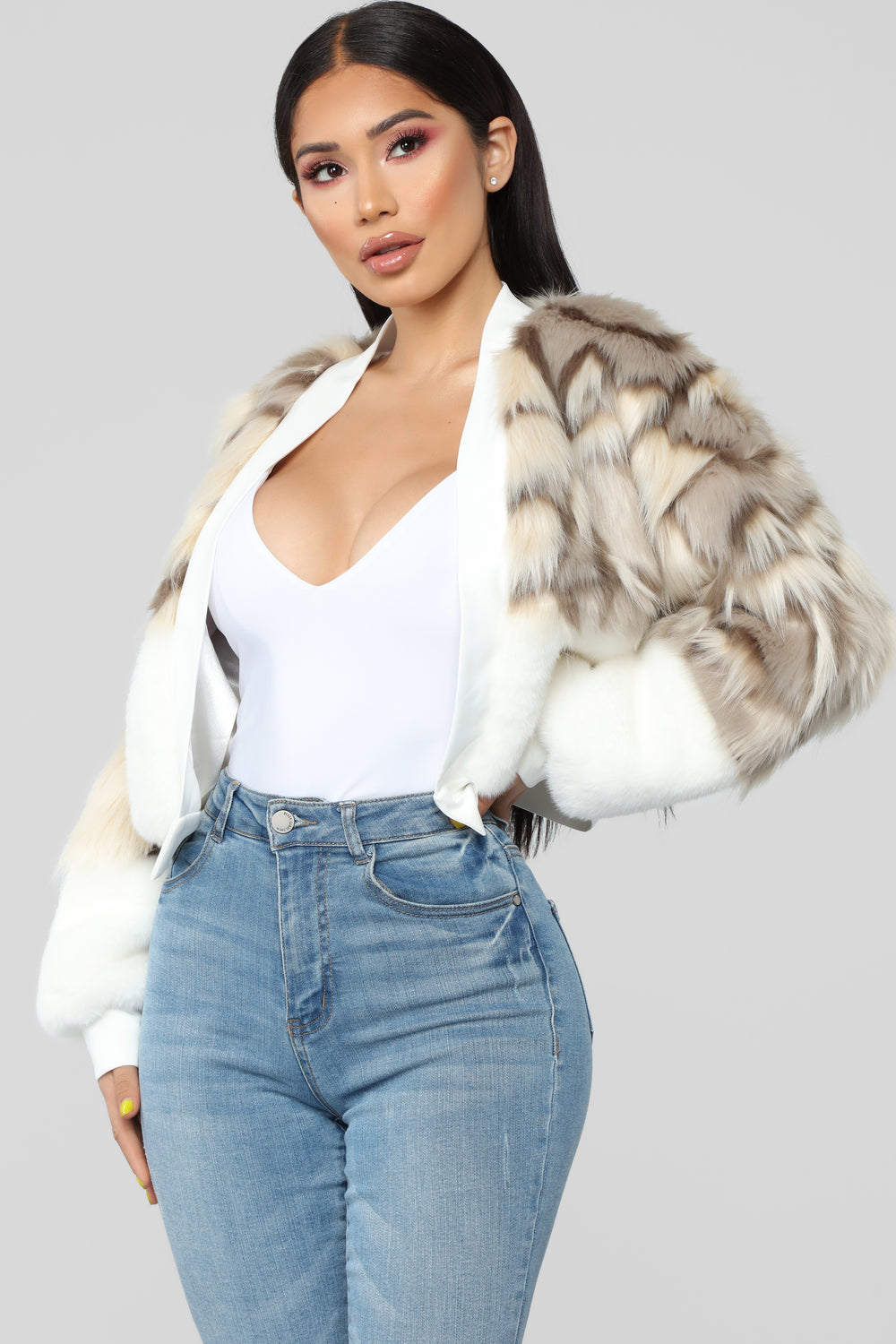 My Love Is Fur Real Jacket - Ivory