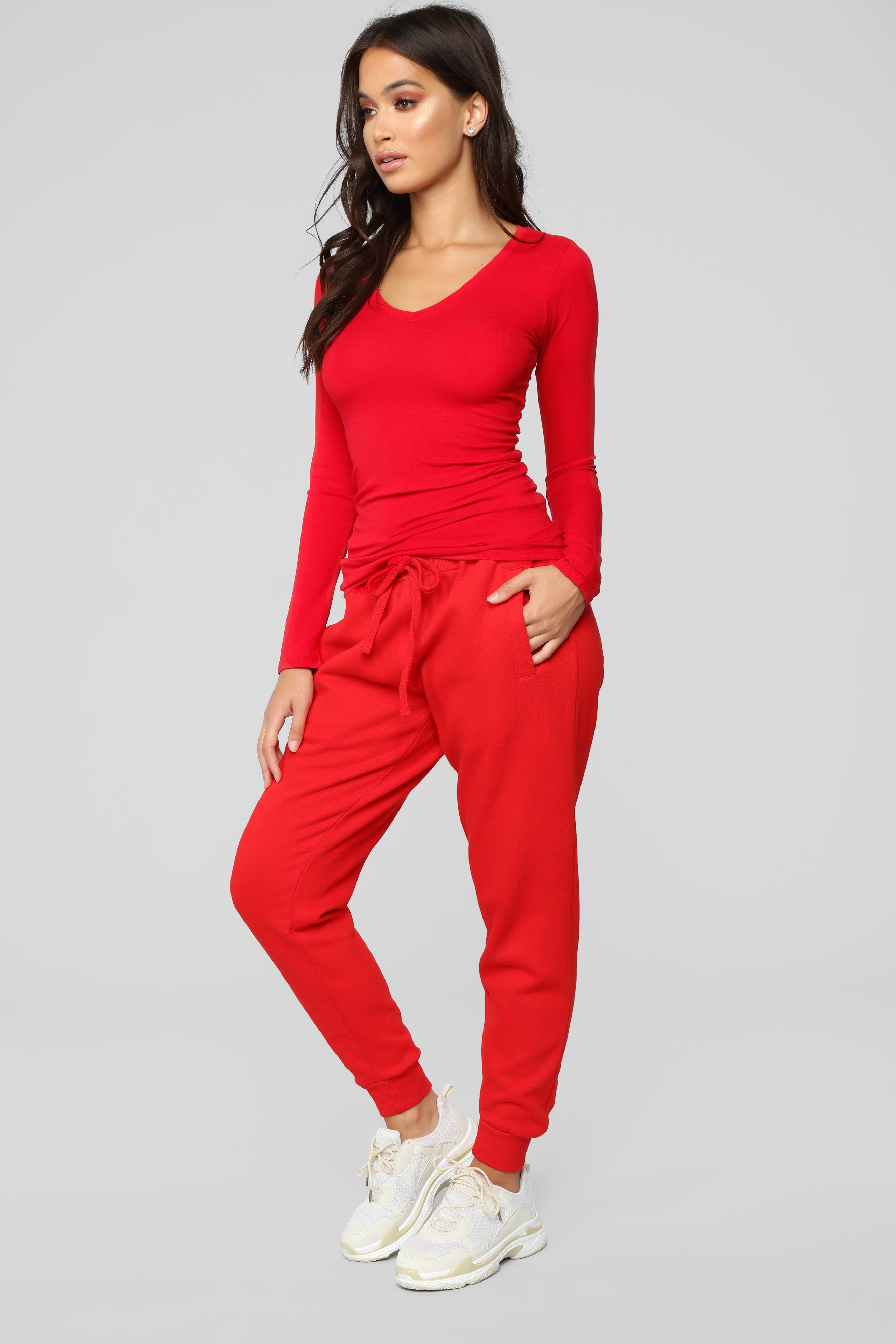 275a5002a4b Your Everyday Long Sleeve Tee - Red