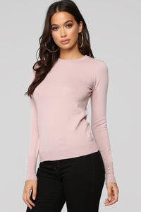 Doesn't Matter To Me Sweater - Blush Angle 1