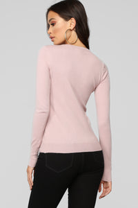 Doesn't Matter To Me Sweater - Blush
