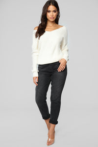 Falls Favorite Girl Sweater II - Ivory