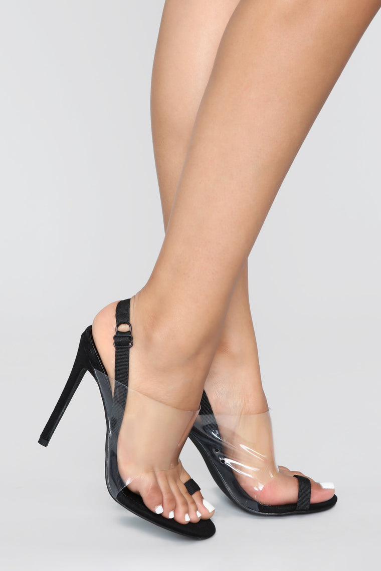 Too Cool For You Heeled Sandal - Black
