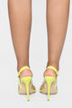 Too Cool For You Heeled Sandal - Yellow