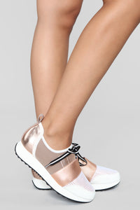 On My Way Sneakers - Rosegold
