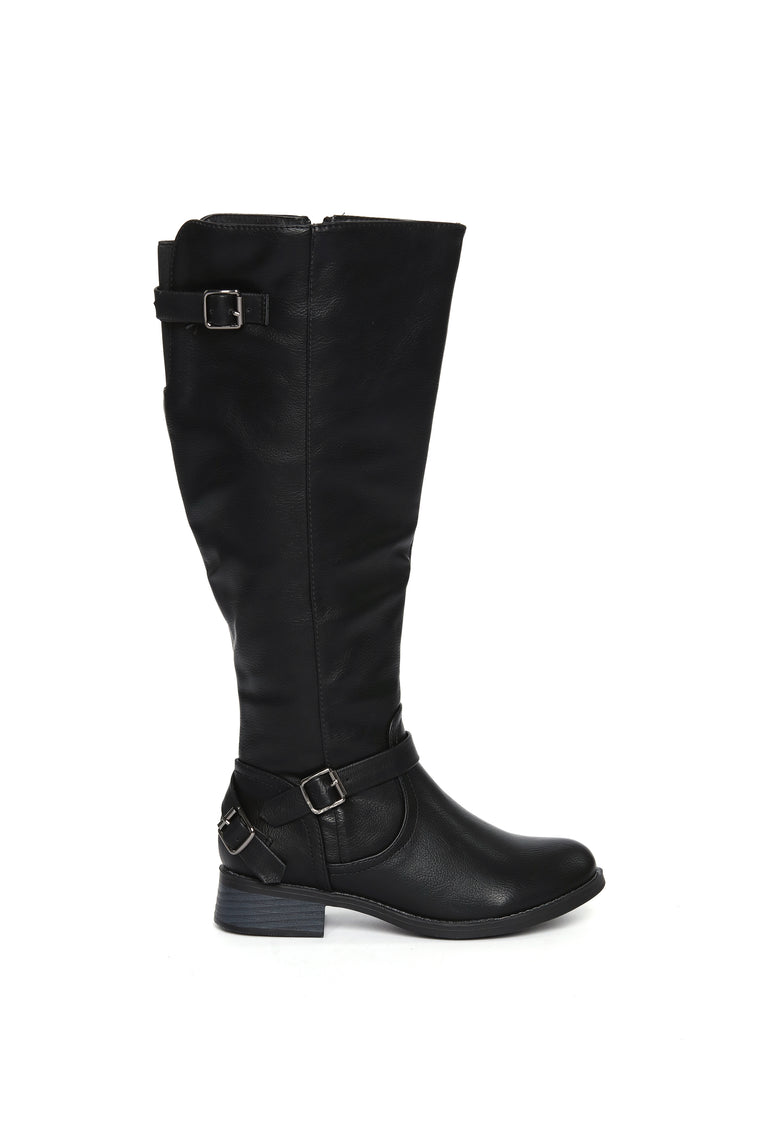 Hit The Highway Flat Boot - Black