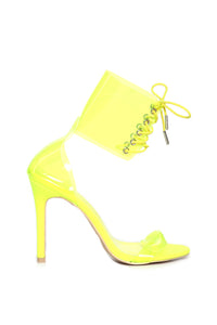 Did I Ask You Heeled Sandal - Lime