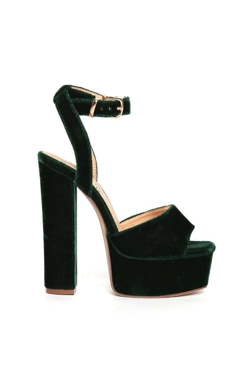 I Know I Can Heel - Emerald Velvet