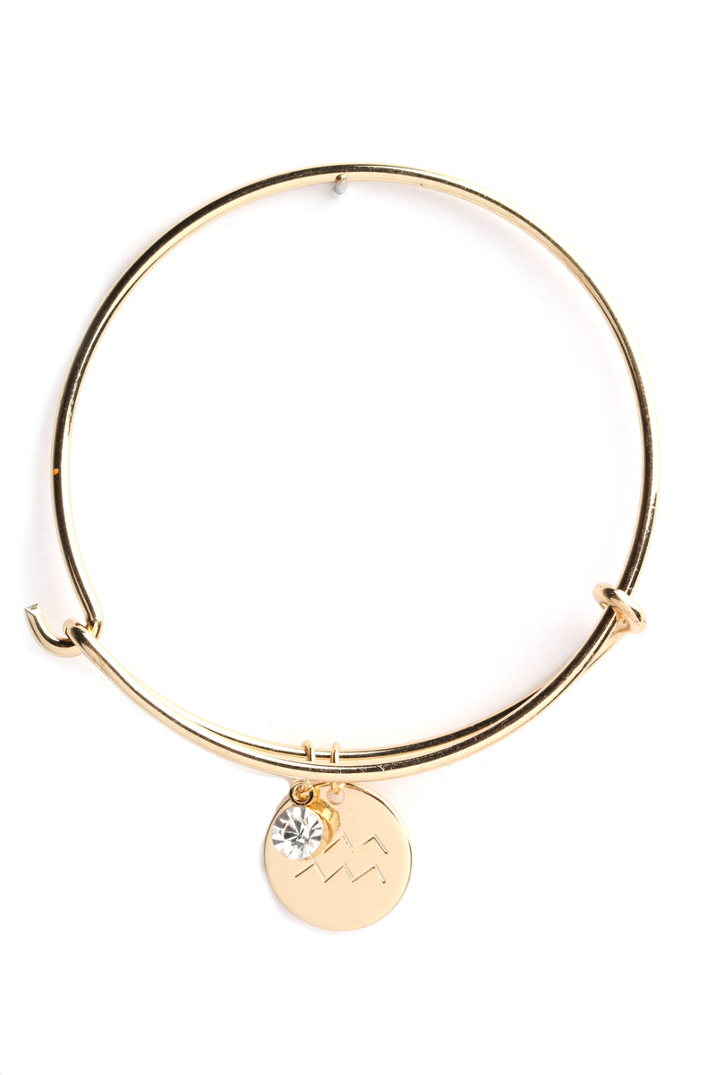Aquarius Please Sign Here Bracelet - Gold