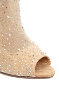 Beyond Expectations Heeled Boot - Nude