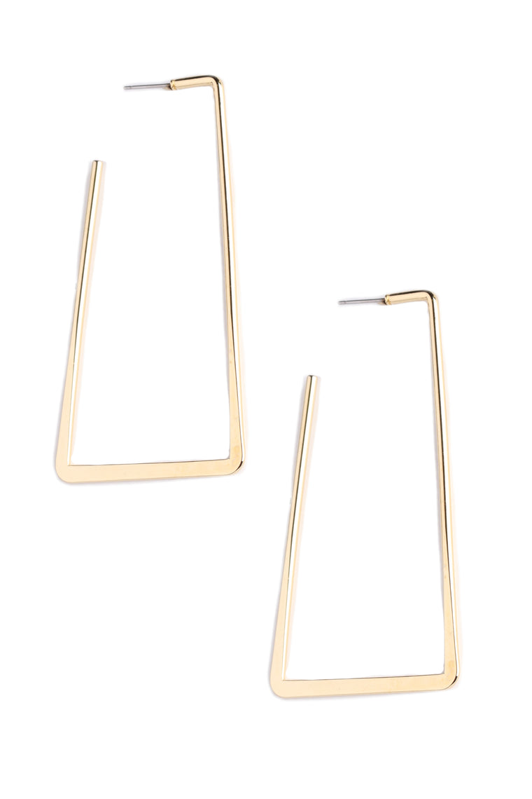 On The Square Earrings - Gold