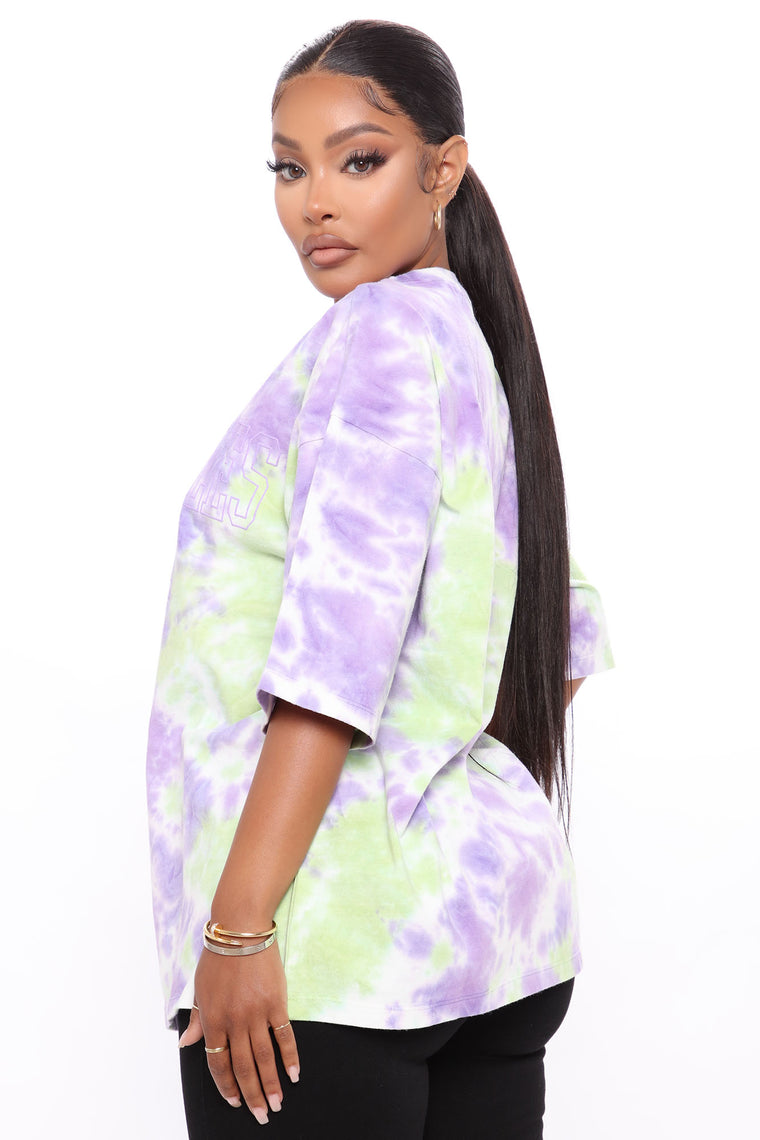 Los Angeles 1991 Tunic Top - Purple/Green