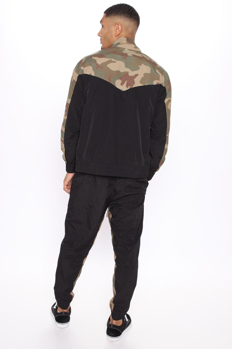 Make A Statement Windbreaker Track Pant - Camouflage