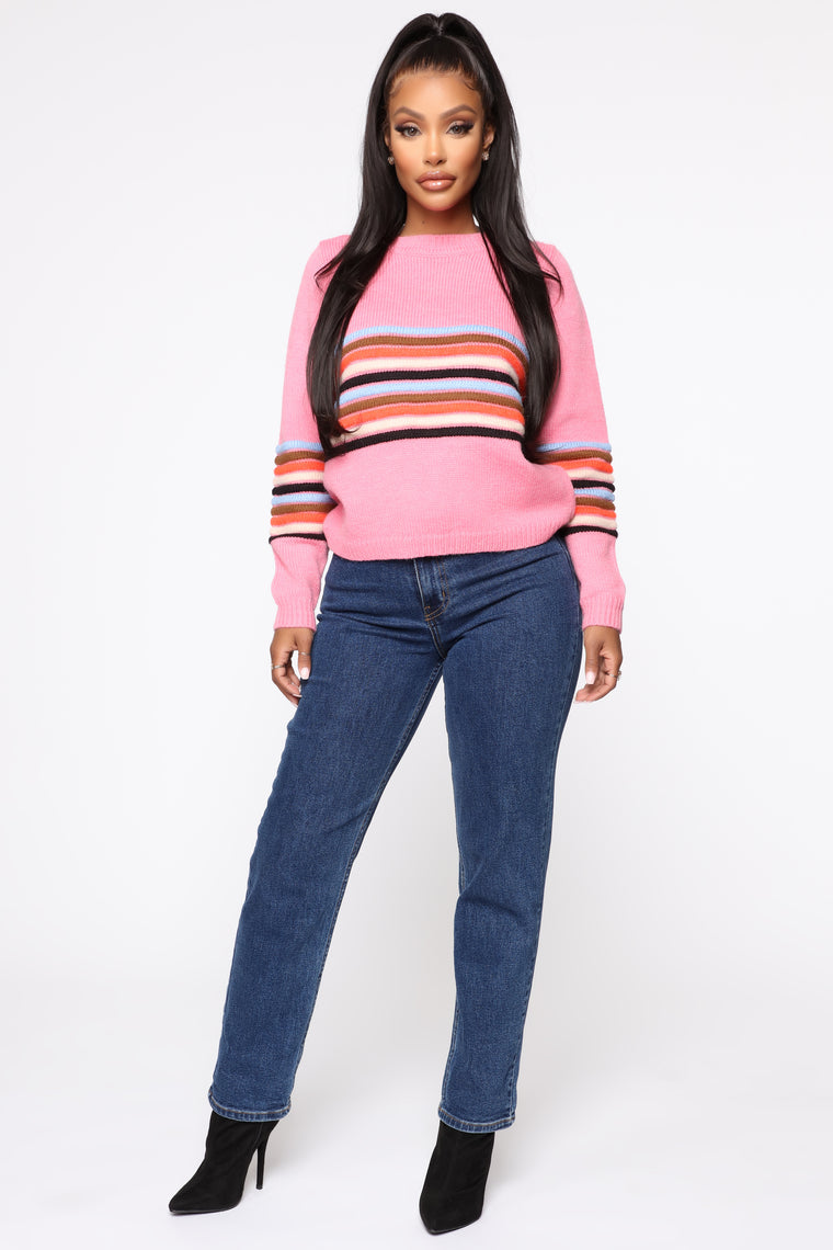 Snuggle Next To Me Sweater - Pink