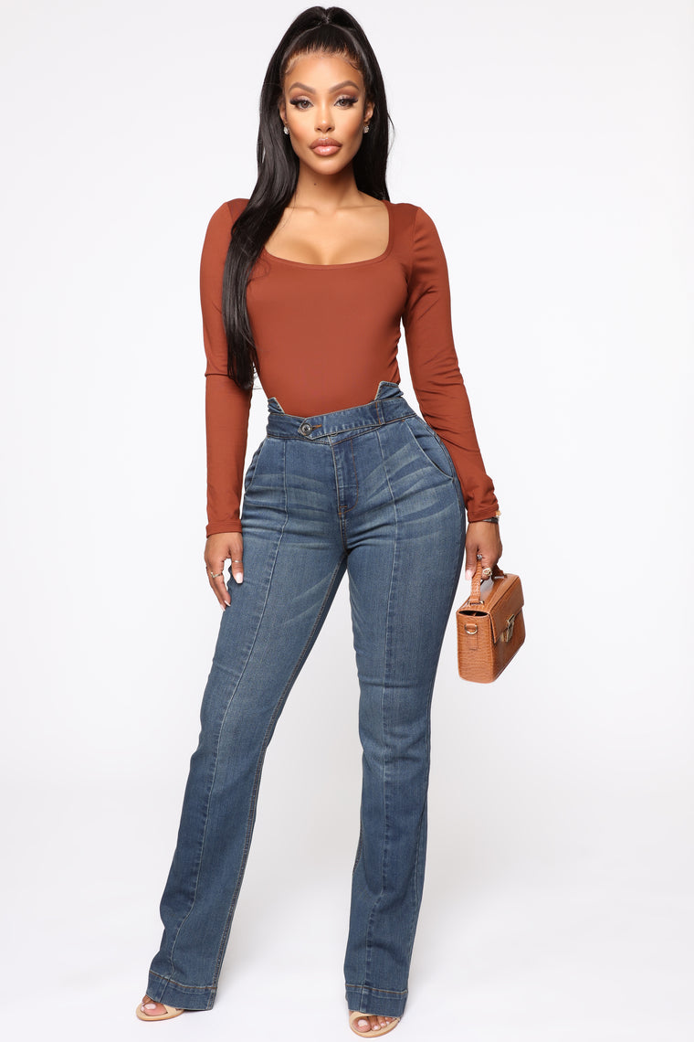 Karma High Rise Jeans   Dark Denim by Fashion Nova