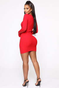Show Some Love Mini Dress - Red