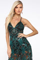 Hey Gatsby Embroidered Jumpsuit - Jade