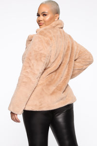Highly Classified Queen Jacket - Taupe Angle 3