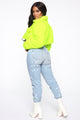 Short And Cozy Jacket - Neon Yellow