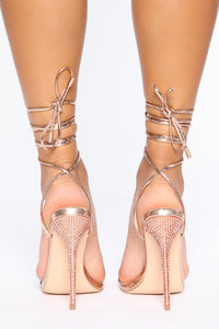 Pure Innocence Heeled Sandals - Rose Gold