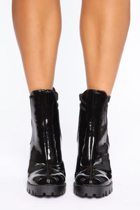 One Direction Booties - Black Angle 3