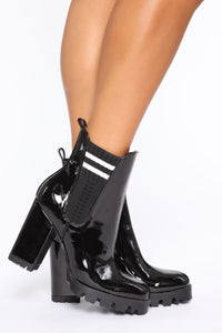 One Direction Booties - Black Angle 1