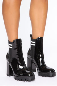 One Direction Booties - Black Angle 2