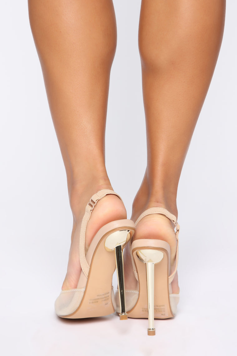 Clear As Can Be Pumps - Nude