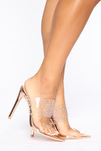 Independent Woman Heeled Sandal - Rose Gold