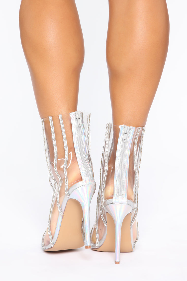 Keep On Shining Booties - Silver