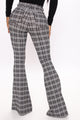 Hailee Plaid Flare Pant - Grey/combo