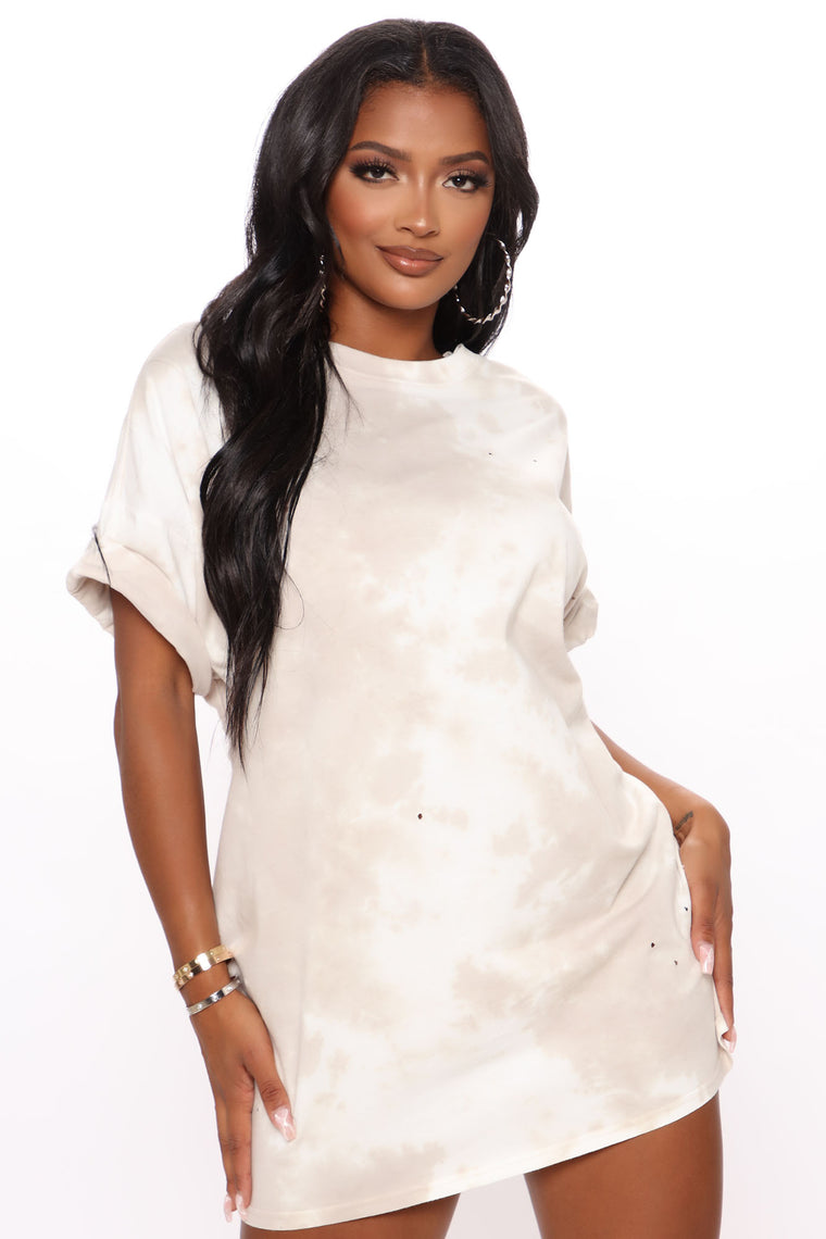 It's Do Or Dye Tunic Dress - Taupe