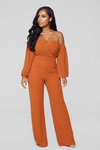 Spice It Up Jumpsuit - Brown Angle 1