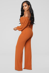 Spice It Up Jumpsuit - Brown Angle 3