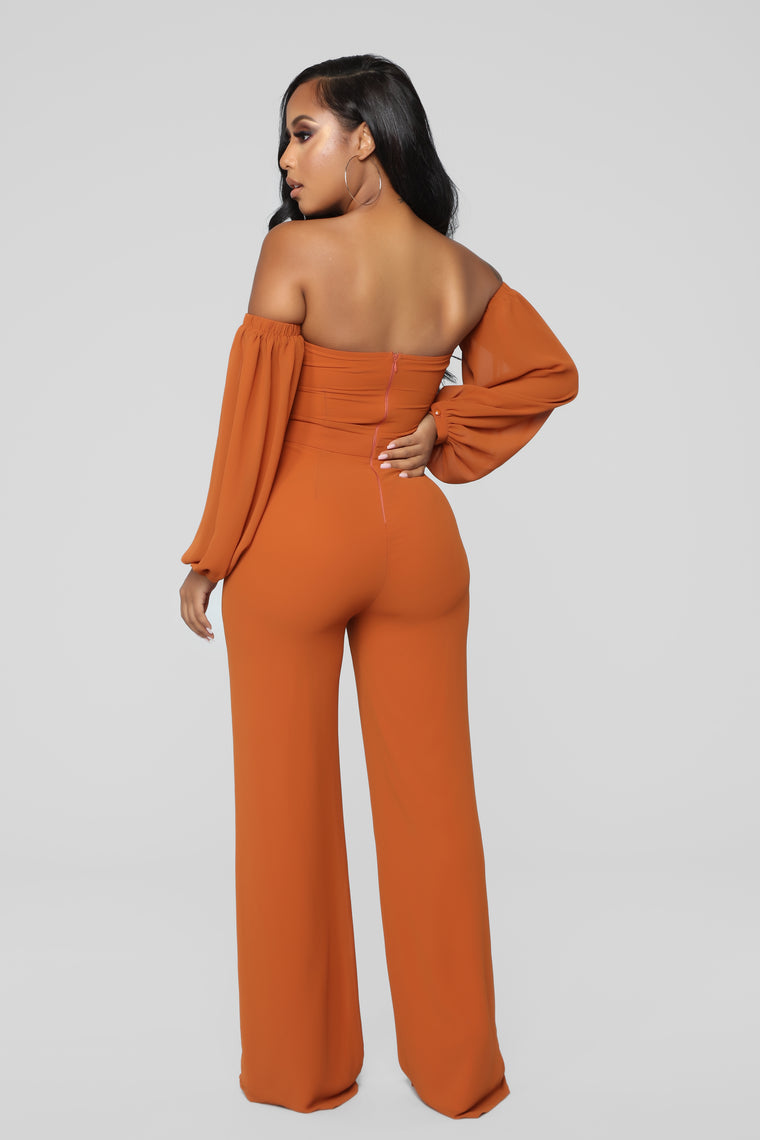 Spice It Up Jumpsuit - Brown