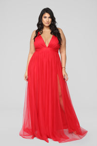 On The Runway Maxi Dress - Red