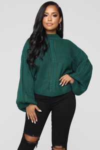 Relax Cozy Sweater - Deep Green