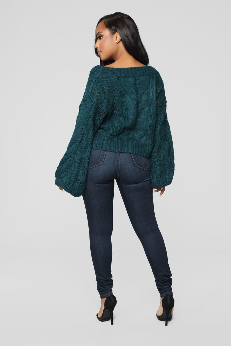 I'm A Mess Sweater - Teal