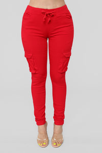 Field Trip Pants - Red