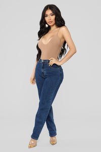 Sleek And Slay Bodysuit - Mocha