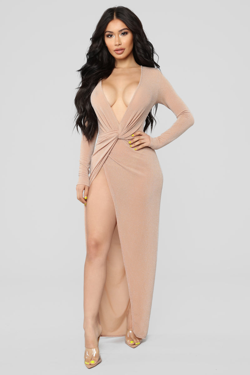 Feeling Loved Dress - Nude