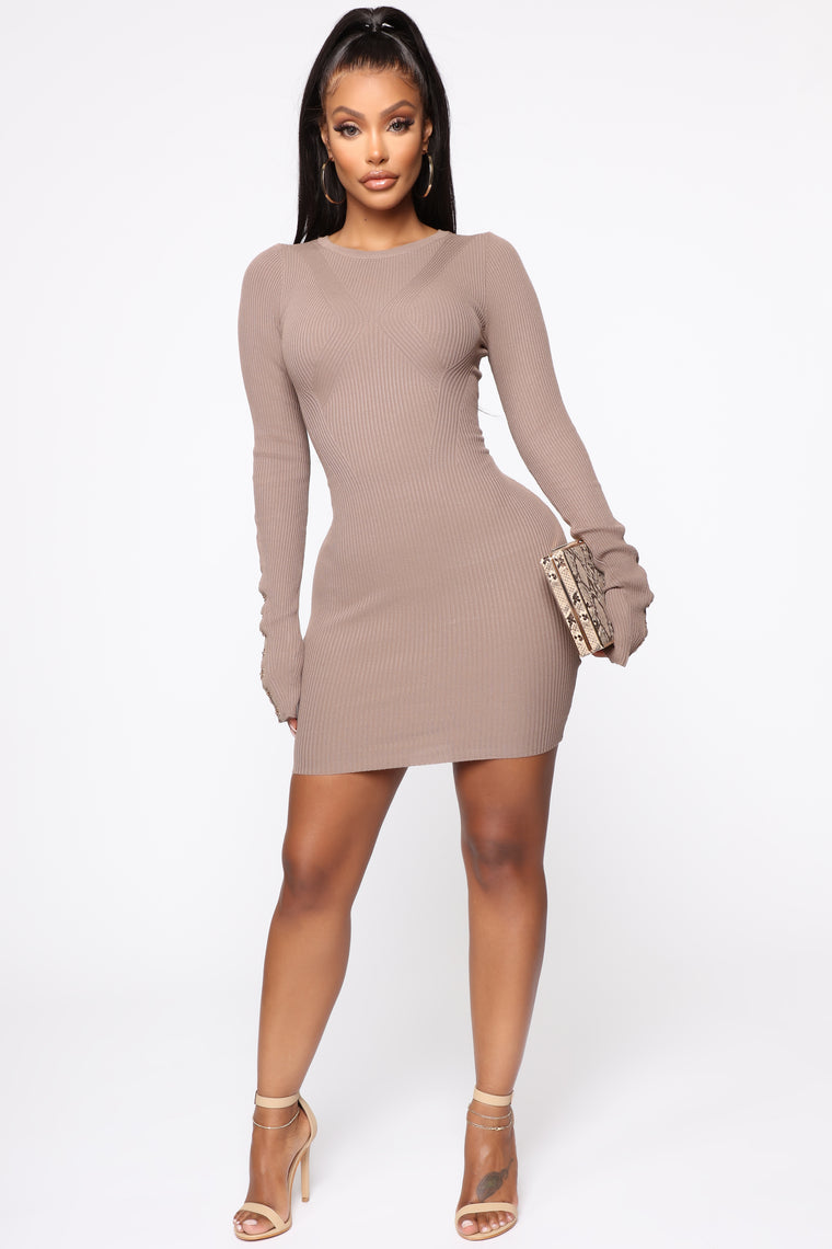 Show Some Love Mini Dress - Mocha