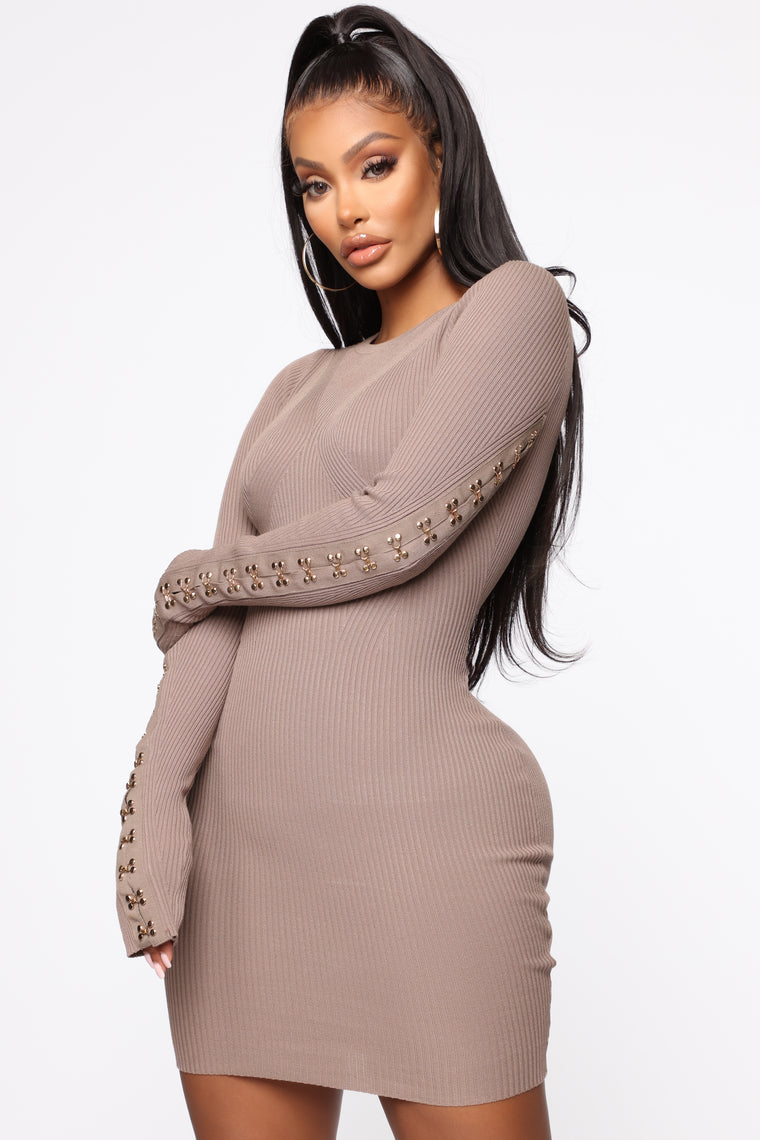Show Some Love Mini Dress   Mocha by Fashion Nova