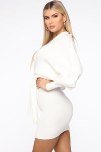 Alondra Sweater Skirt Set - Ivory