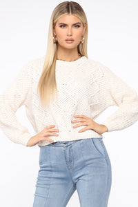 Pick Of The Patch Sweater - Ivory