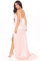 Metallic Beauty Maxi Dress - Blush