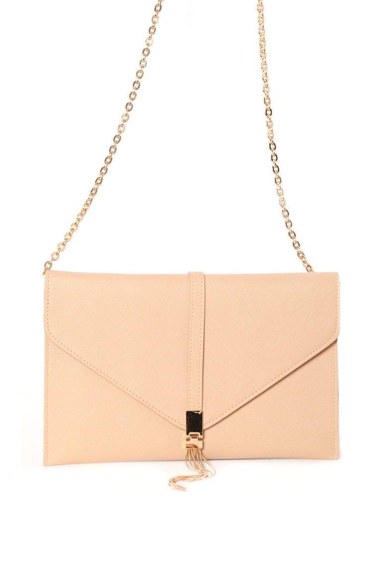 At The After Party Envelope Clutch - Nude