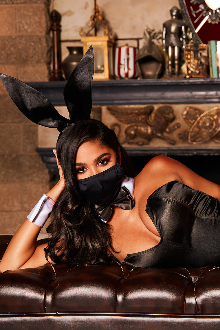 Bunny Of The Month 4 Piece Costume Set - Black