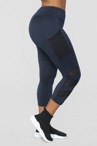Can't Stop Me Leggings - Navy
